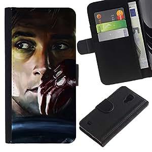 """JackGot ( Drive - Gosling"""" ) Samsung Galaxy S4 IV I9500 la tarjeta de Crédito Slots PU Funda de cuero Monedero caso cubierta de piel"""