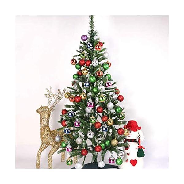 Lhbfcy Sfere per Albero Natale Set Plastica Palle Palline Nozze Dell'albero Pallina Verniciata Bagattelle Artigianali Palla per Brillanti Pendenti Natale Scintillanti Deco 4 cm/1.57 Pollici(48 PZ) 7 spesavip