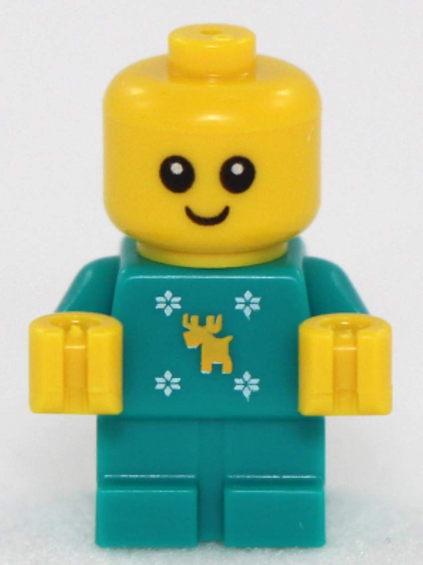 10263 Cute! with Moose and Snowflakes Onsie LEGO Holiday Baby Minifigure