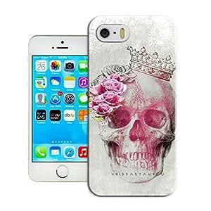 LarryToliver Unique Design Ice Customizable Skull art illustration For iphone 5/5s Plastic Back Case Snap On Gift Idea