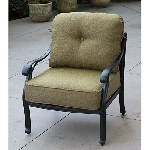 Darlee Nassau Outdoor Club Chair in Antique Bronze (Set of 2) -