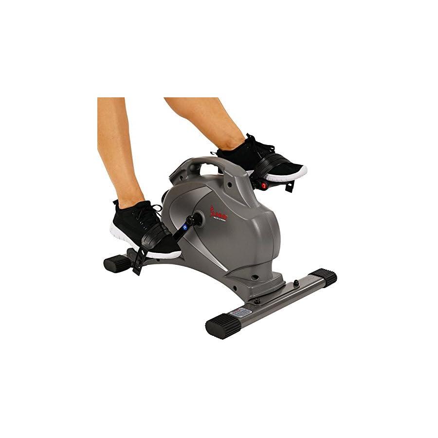 Suny Health & Fitness SF B0418 Magnetic Mini Exercise Bike, Gray