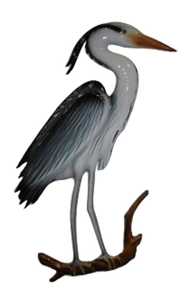 28'' Blue Heron Half Mount Replica , Fishing Wall & Coastal Decor