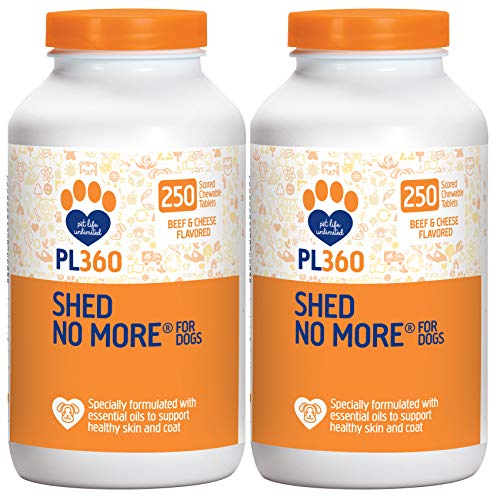 PL360 Shed No More Chewable Supplement for Dogs, 500 Count