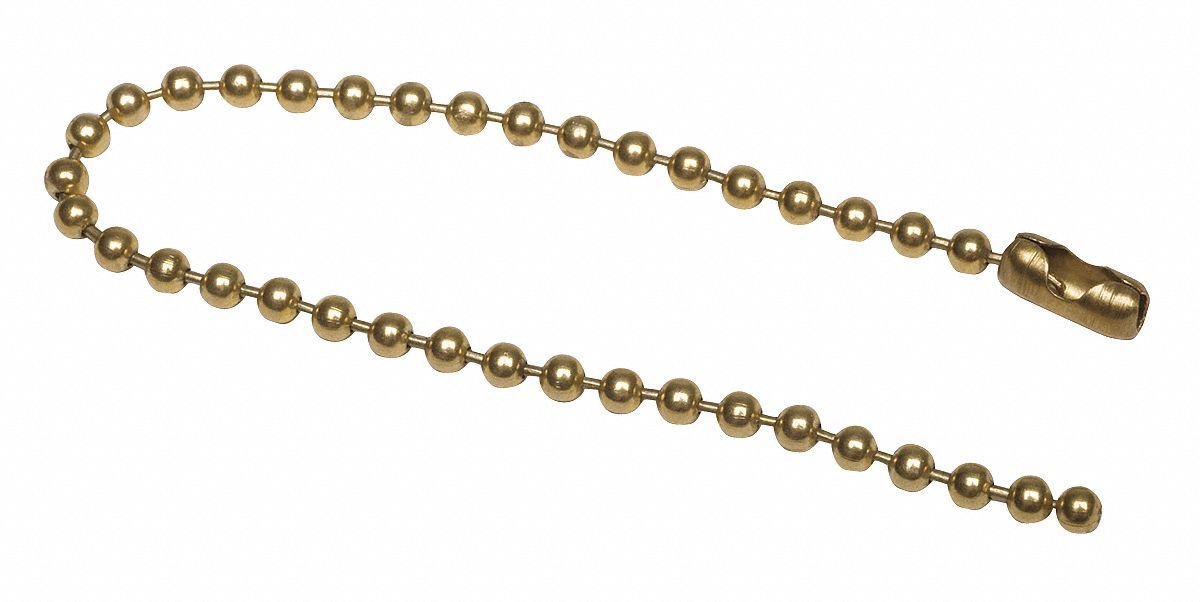 Beaded Chain, Brass Plated, 100 PK pack of 5