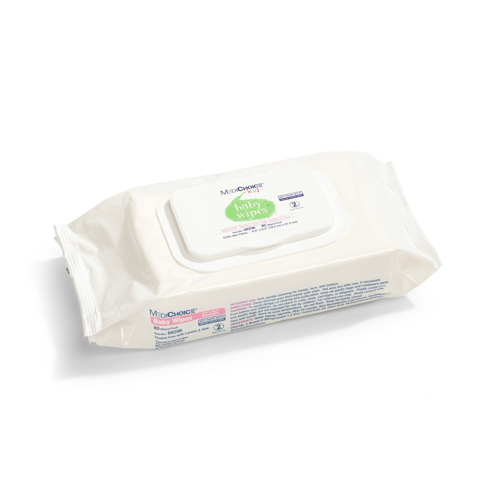 MediChoice Baby Wipes, Softpack, 6.5 In. X 8.5 In, 1314088206 (Case of 960)