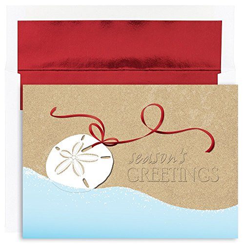 Swag Holiday Card - JAM Paper® Christmas Holiday Card Packs - 8