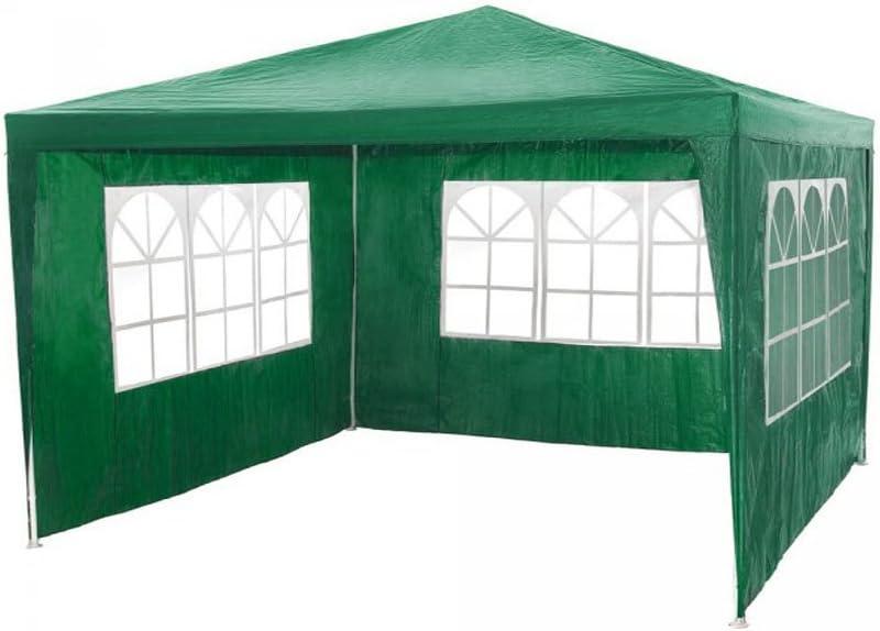 Carpa gazebo 3x3 con laterales. Económica. Verde: Amazon.es: Jardín