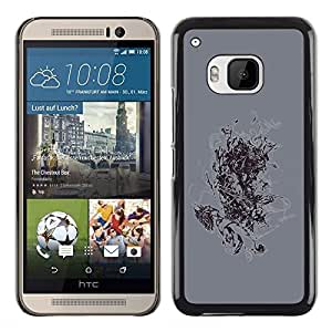Shell-Star Arte & diseño plástico duro Fundas Cover Cubre Hard Case Cover para HTC One M9 ( Abstract Painting )
