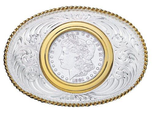 Montana Silversmiths Genuine USA Silver Dollar Buckle (Dollar Buckle)