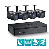 ELEC 4CH DVR 960H Video Security System 4PCS 1500TVL Weatherproof Outdoor Cameras Surveillance Kit, Free iOS Android APP, Motion Detection Email Alert, IR Night Vision 65FT -no Hard Drive
