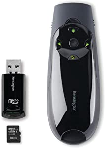 Kensington Expert Wireless Presenter with Green Laser Pointer, Cursor Control, and 8GB Memory (K72427AMA)