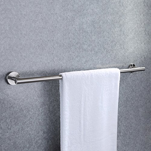 bathroom towel bar brushed nickel - 7