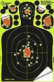 Cheap Splatterburst Targets – 12 x18 inch – Stick & Splatter Adhesive Silhouette Shooting Target – Shots Burst Bright Fluorescent Yellow Upon Impact – Gun – Rifle – Pistol – Airsoft – Air Rifle (10 Pack)
