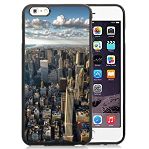 Fashionable Custom Designed iPhone 6 Plus 5.5 Inch Phone Case With New York City Skyline Clouds_Black Phone Case