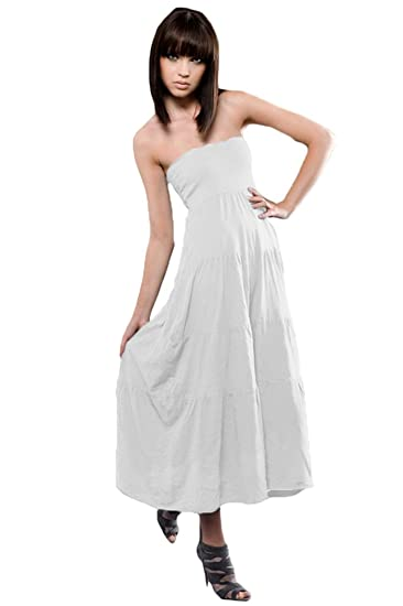 9a7dcfa6c31d Amazon.com: A&E Designs Ladies Foldover Skirt, White, Medium: Clothing
