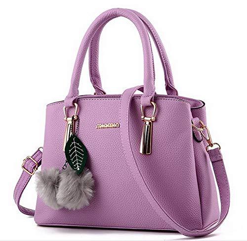 Donna Moda Style Viola Rosa a Borse Weekend Cotone Tote CCALBO181945 tracolla Chiaro VogueZone009 fughe Poli BdqBf