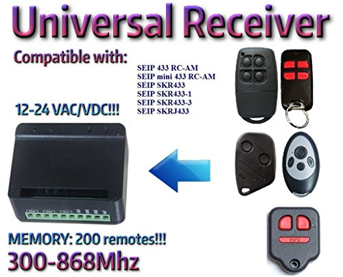 Price comparison product image Universal 2-channel receiver Rolling Fixed code 300Mhz-868Mhz 12 - 24 VAC/DC. Compatible with: SEIP 433 RC-AM / mini 433 RC-AM / SKR433 / SKR433-1 / SKR433-3 / SKRJ433 remote controls!!!