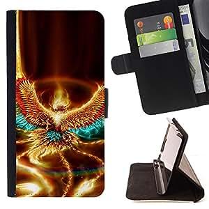 Jordan Colourful Shop - fire eagle art mythical creature element bird For Samsung ALPHA G850 - < Leather Case Absorci????n cubierta de la caja de alto impacto > -