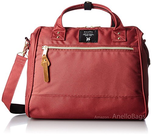 (Japan Anello LARGE DARK ORANGE 2 Way Unisex Shoulder Bag Poly Canvas)
