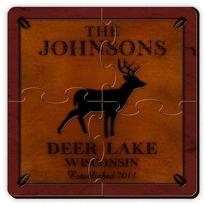 Personalized Gift Cabin Series Coaster Puzzle