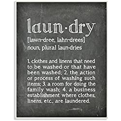 Stupell Home Décor Laundry Definition Chalk Look Wall Plaque Art, 10 x 0.5 x 15, Proudly Made in USA