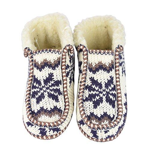 Unbekannt - Zapatillas de estar por casa para mujer blanco - blanco