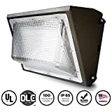 EverWatt LED 120W Wall Pack Outdoor Area Light Fixture, 4000K Warm White, 14921 Lumens, Replacement for 600W-700W Equivalent HPS/HID Wall Lights, IP65 Waterproof, UL/DLC Listed, Optional Photocell