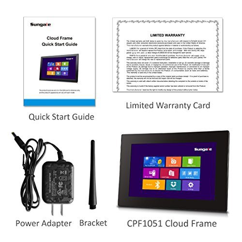 Sungale Cpf1051 10 Inch Wifi Cloud Digital Photo Frame With Touch