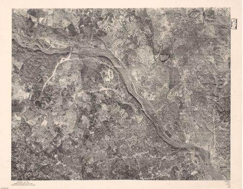1960 Map Photomap of northwestern Washington D.C. and adjacent suburban areas - Size: 18x24 - Ready