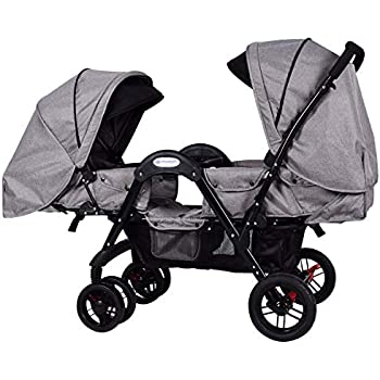 Amazon Com Costzon Double Stroller Stroller With Sleep