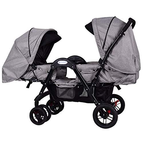Costzon Double Stroller, Stroller with Sleep, Sit, Recline S