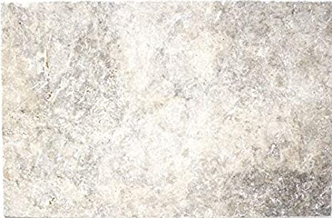 Carrelage Travertin MOSF-45-47010 Carrelage en pierre naturelle Blanc//gris argent/é
