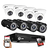 XVIM 1080P Home Security Camera System, 8CH 1080P CCTV Video DVR Recorder, 8pcs HD 1080P 2.0MP Outdoor Indoor Waterproof Surveillance Cameras with Motion Alert, 85FT Night Vision (with 1TB Hard Drive)
