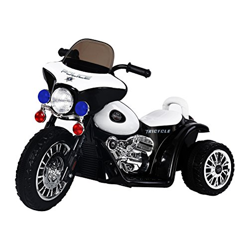 Aosom Kids 6V Electric Powered Ride On Toy Police Motorcycle