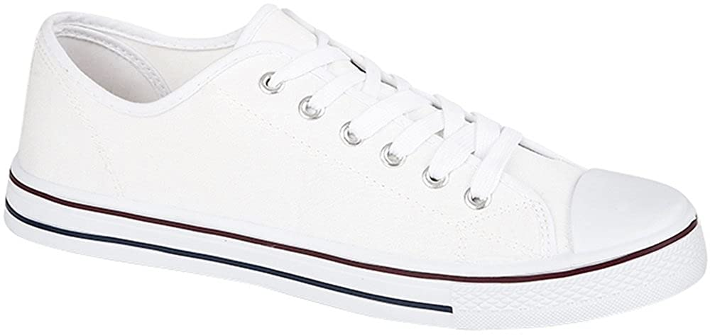 Para hombre lona béisbol Zapatillas–Baltimore Color Blanco Talla 42.5