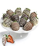 Belgian Chocolate Covered Strawberries - 12pc Classic - Milk, Dark &...