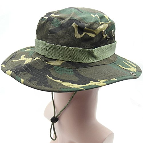 TRENDBOX Camo Military Boonie Sun Bucket Hat Unisex Cap for Sports Camping Fishing Hiking Boating Outdoor