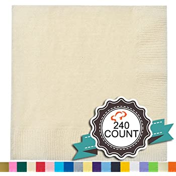 Amazon Com Tiger Chef 240 Pack Ivory 9 7 8 Inch 2 Ply Colored