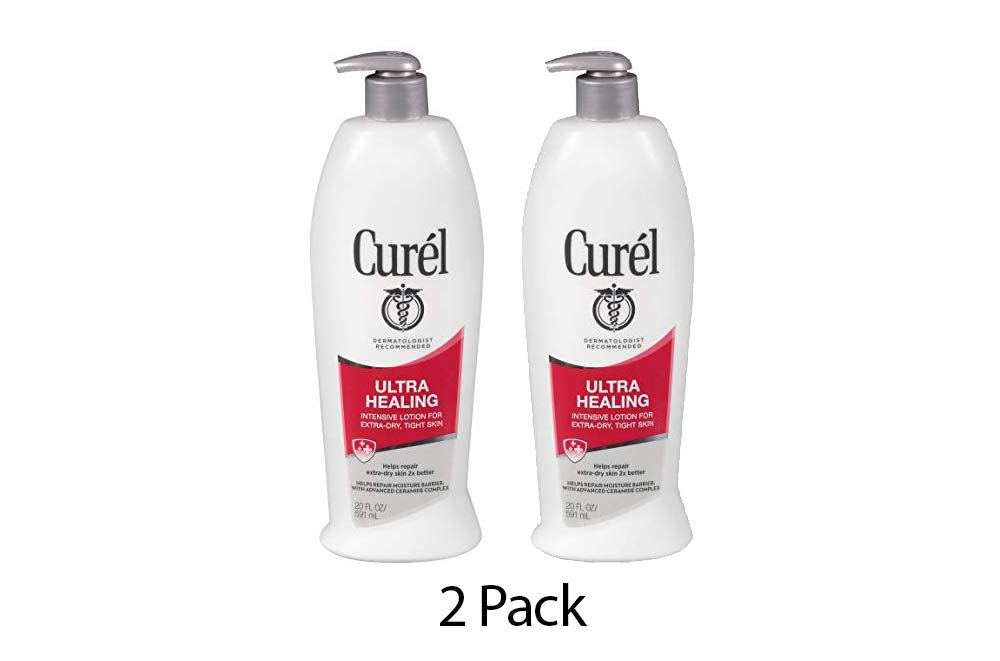 Curél Ultra Healing Intensive Lotion for Extra-Dry, Tight Skin - 20 Fl Oz (Pack of 2)