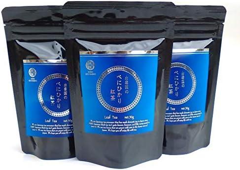 べにひかり紅茶リーフ×3袋セット【斐川町・西製茶所】