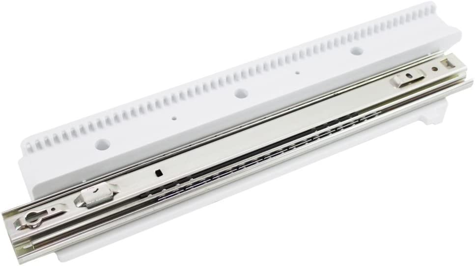 GE WR49X20767 Refrigerator Freezer Drawer Slide Rail Genuine Original Equipment Manufacturer (OEM) Part