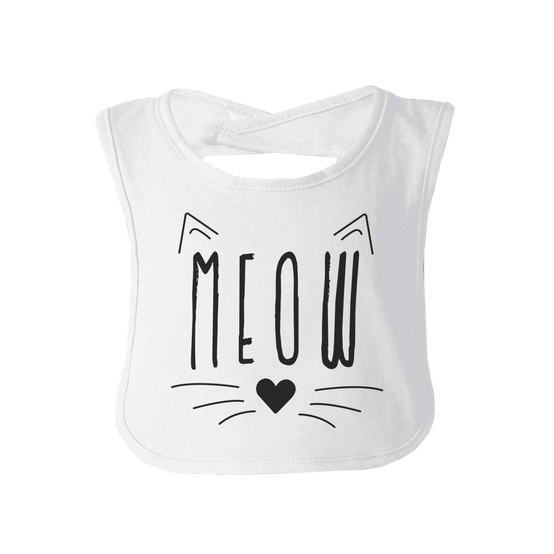 365 Printing Meow Baby Babero de Regalo Blanco Talla:Talla ...