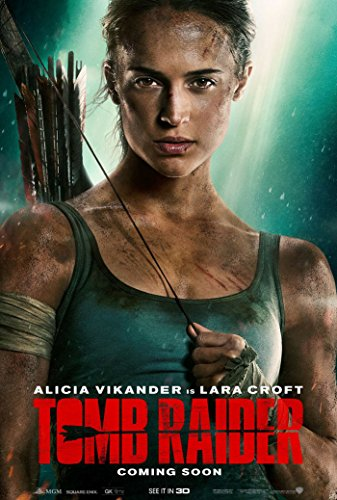 bribase shop Tomb Raider Poster - 2018 Movie Promo 36 x 24 A
