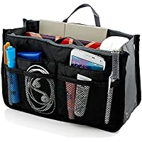 Insert Bag Organizer, Bag in Bag for Handbag Purse Organizer (13 Pockets, Black)