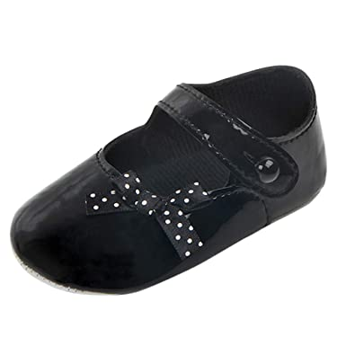 Baby Girl Soft Sole Shoes Dots Bowknot Toddler Anti-slip Shoes Newborn To New First Walkers