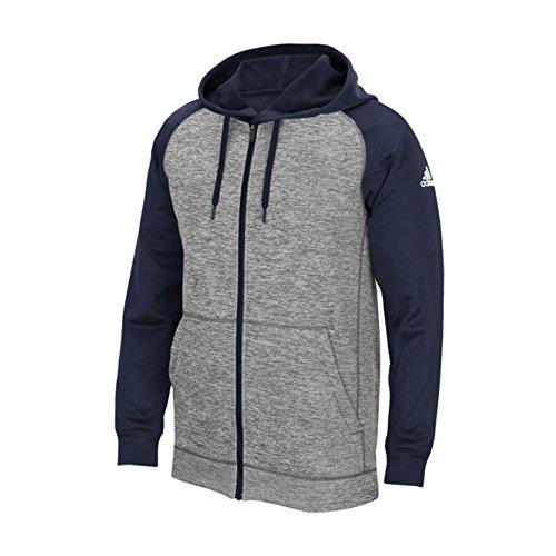 Adidas Heren Climawarm Teamuitreiking Ritsjack Grijs Gemêleerd-marine