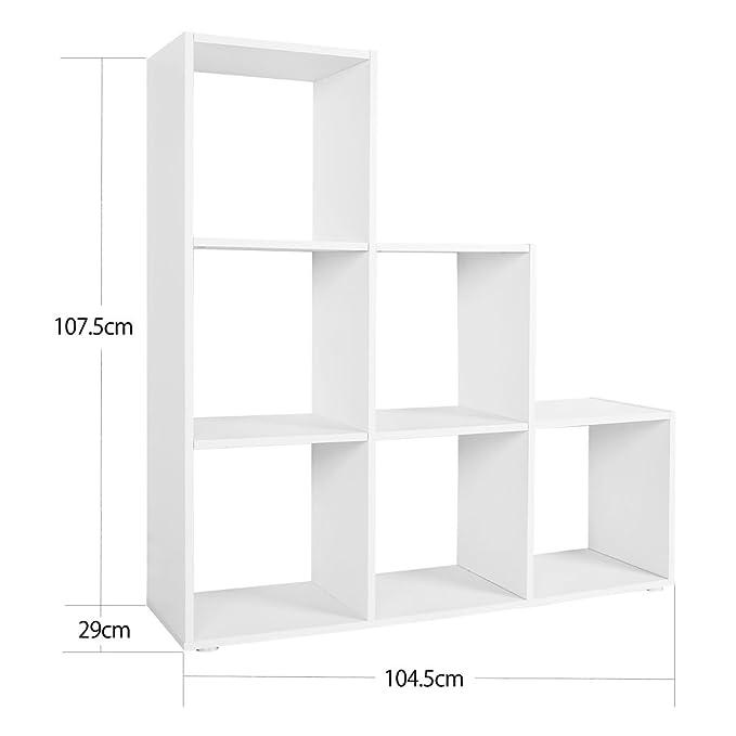wiltec tagre 16 cases couleur chne etagre escalier diviseur de pice bibliothque meuble rangement
