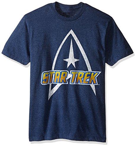 Classic Short Sleeve T-Shirt, Navy Heather, Medium ()
