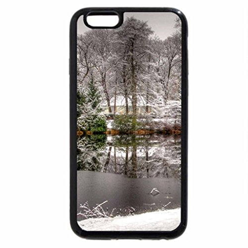 iPhone 6S Case, iPhone 6 Case (Black & White) - painted frost